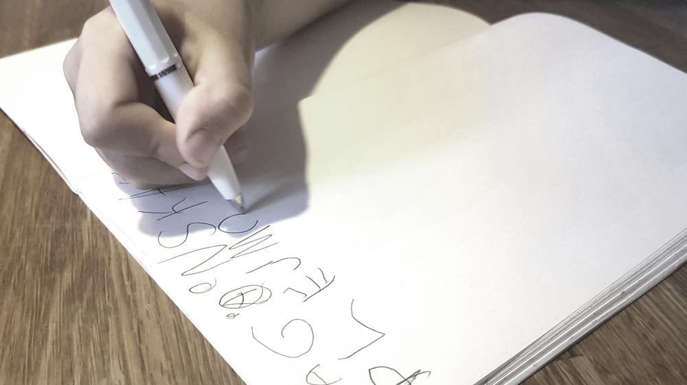 skriva barn